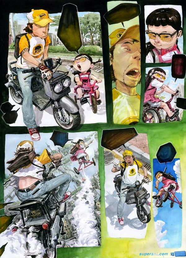 Рисунок корейского иллюстратора Ким Джун-Джи