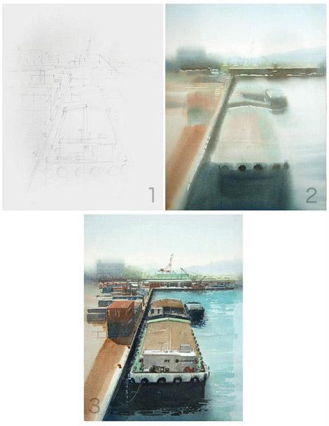 Иногда в своих блогах Масато выкладывает этапы создания своих работ, за что ему спасибо)