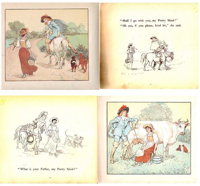 Рэндольф Кальдекотт (1846-86), иллюстрации, английский иллюстратор, Т. Никитина
