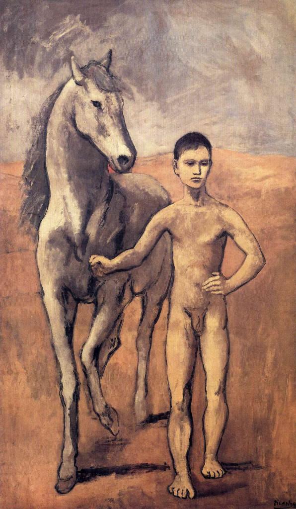 """""""Мальчик, ведущий лошадь"""" 1906"""