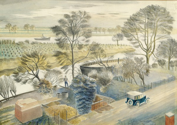 """The River Thames at Hammersmith"" 1932"