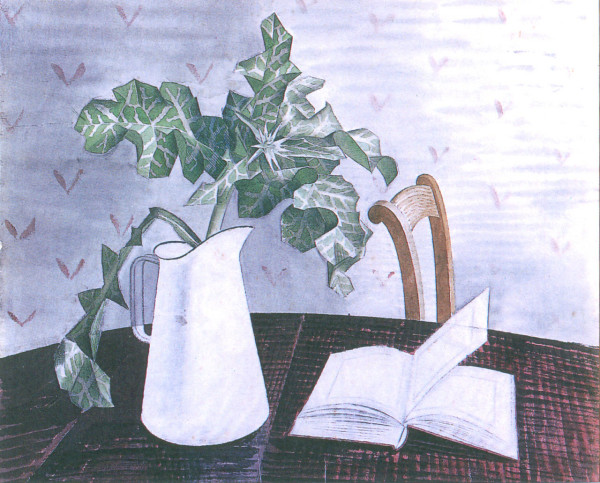 """Still Life with Acanthus Leaves"" акварель 1938-39"