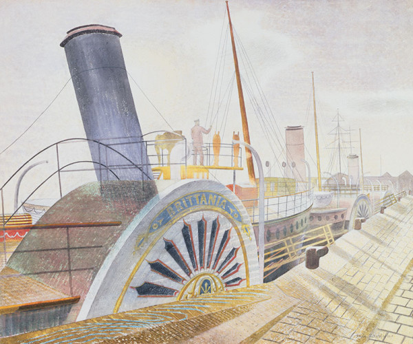 1938 Paddle Steamers, Bristol Quay watercolour