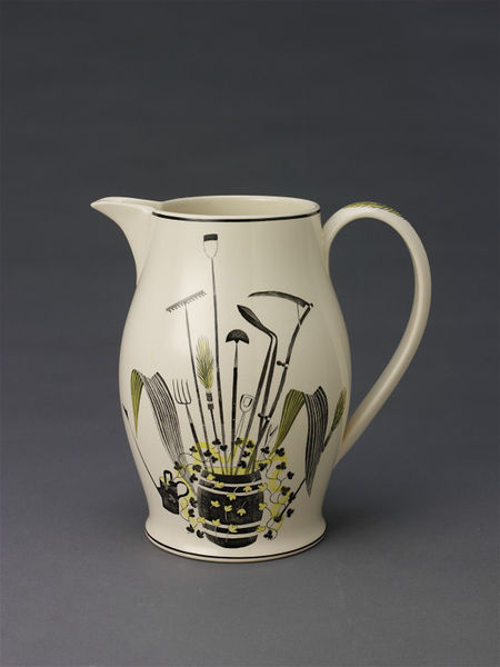 1939c Earthenware Jug with -Garden Implements