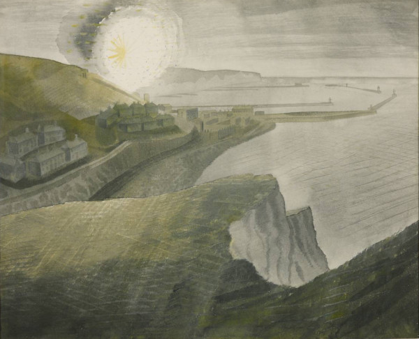Shelling by Night 1941 by Eric Ravilious 1903-1942