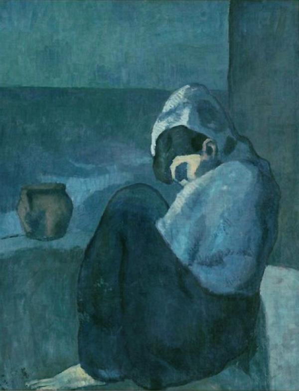 """""""Сидящая женщина в капюшоне"""" 1902"""