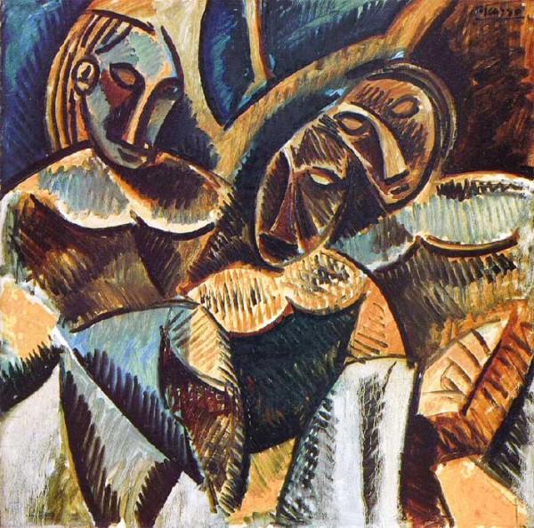 """""""Три фигуры под деревом"""" 1907"""