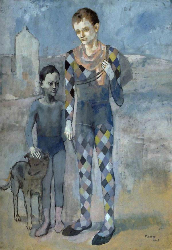 """""""Два акрабата с собакой"""" 1905"""