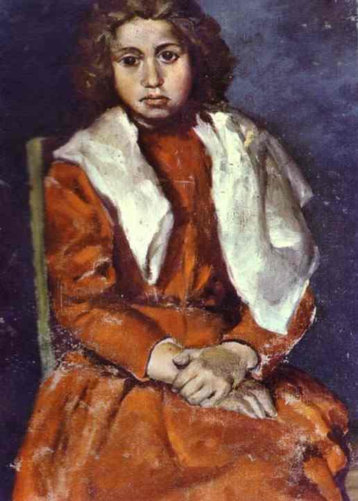 """""""Босоногая девочка. Фрагмент"""" 1895"""