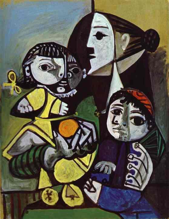 """""""Франсуаза, Клод и Палома"""" 1951"""