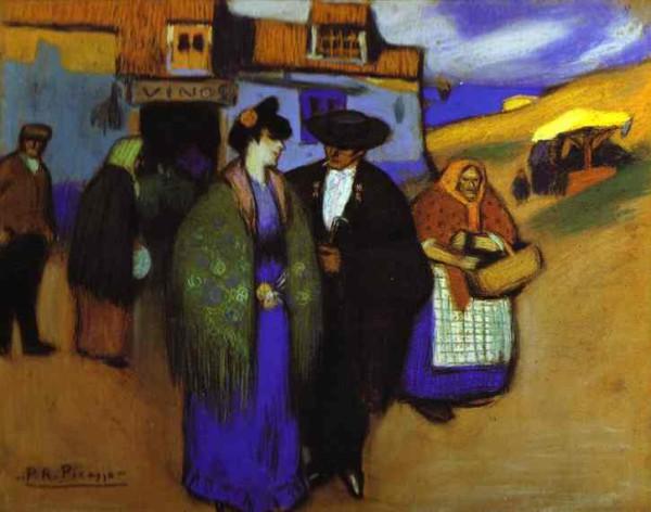 """Испанская пара перед гостиницей"" 1900"
