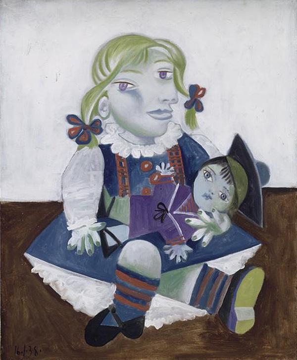 """""""Майя с куклой"""" 1938"""