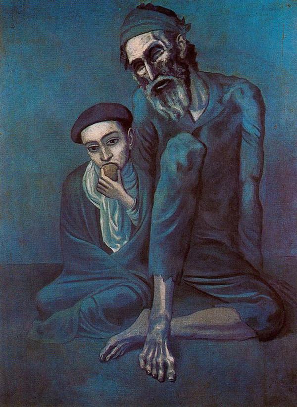 """""""Нищий старик с мальчиком"""" 1903"""