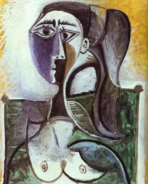 """""""Портрет сидящей женщины"""" 1960"""