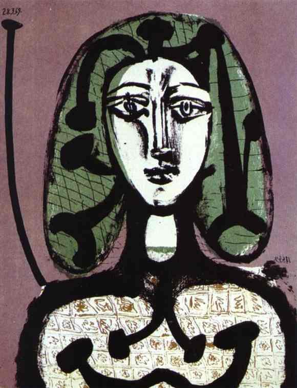 """""""Женщина с зелеными волосами"""" 1949"""