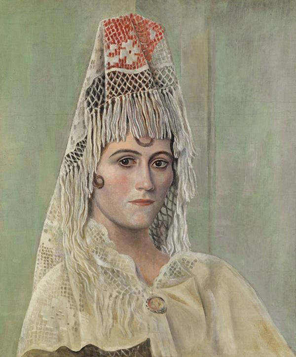 """Ольга Хохлова в мантилье"" 1917"