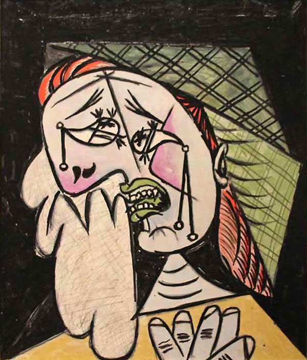 """""""Плачущая женщина с платком"""" 1937"""