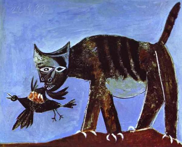 """""""Раненная птица и кот"""" 1938"""