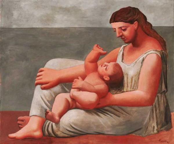 """""""Женщина с ребенком на берегу моря"""" 1921"""
