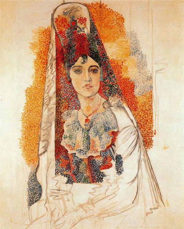 """""""Женщина в мантилье"""" 1917"""