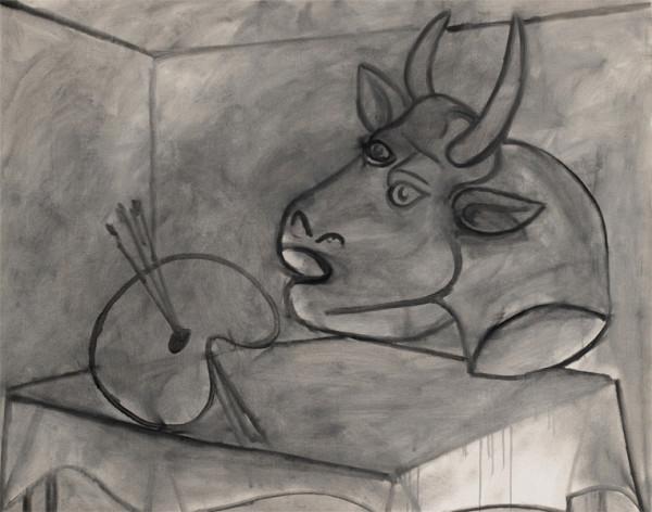 """Палитра и голова быка"" 1938"