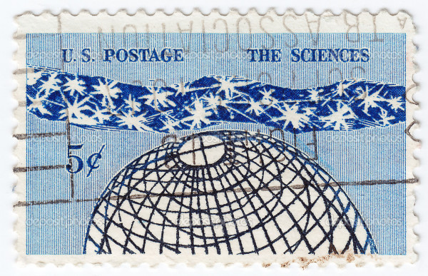 USA - CIRCA 1945 : stamp printed in USA the sciences, circa 1945
