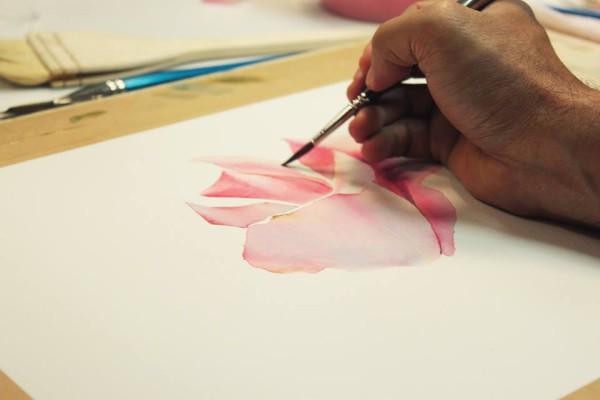 Видео с мастер-класса «Рисуем розы акварелью» c художником ЛаФе из Тайланда (апрель 2015)