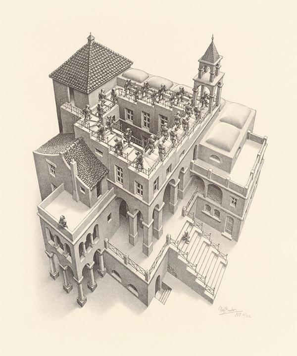Escher-Ascending-and-Descending-19601