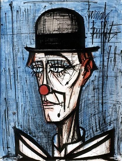 """""""Клоун в котелке на синем фоне"""""""