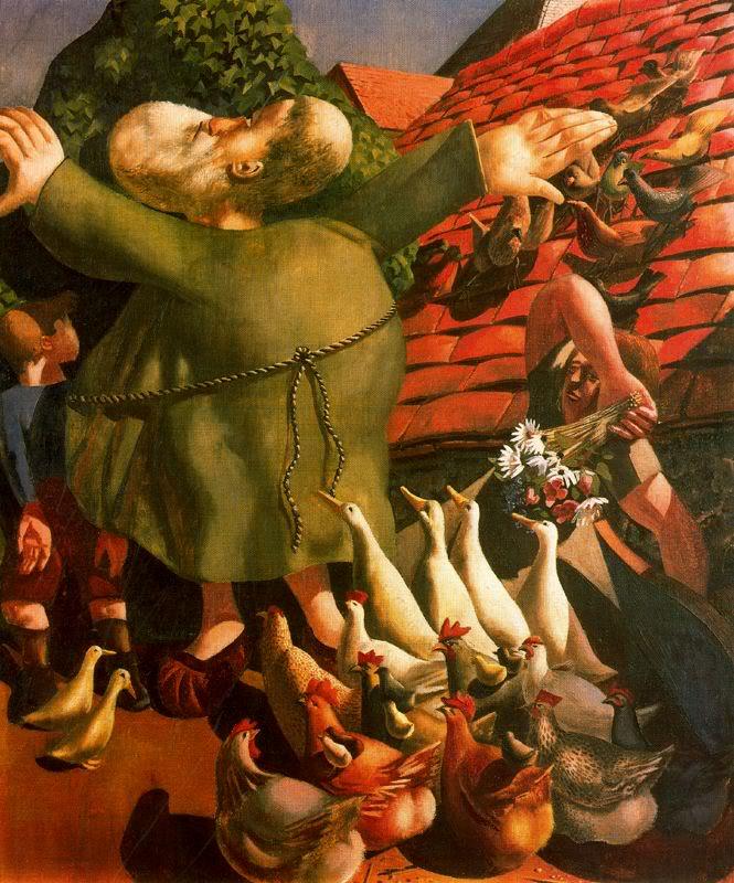 Святой Франциск проповедует птицам