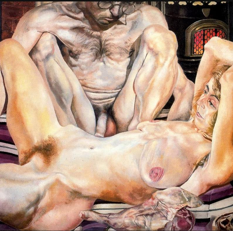 Голая баранья нога.  Автопортрет с женой