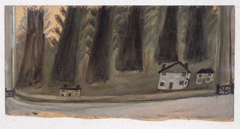 Дома и большие деревья