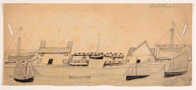 Дома на другой стороне и лодки