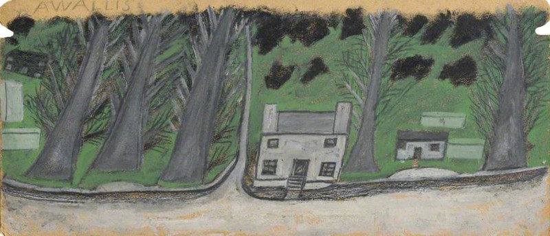 Дом и три дерева