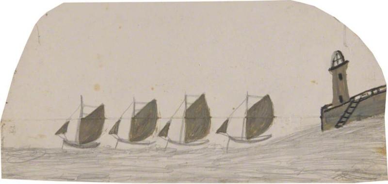 Четыре парусные лодки