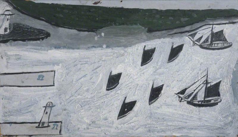 Семь лодок входят в гавань