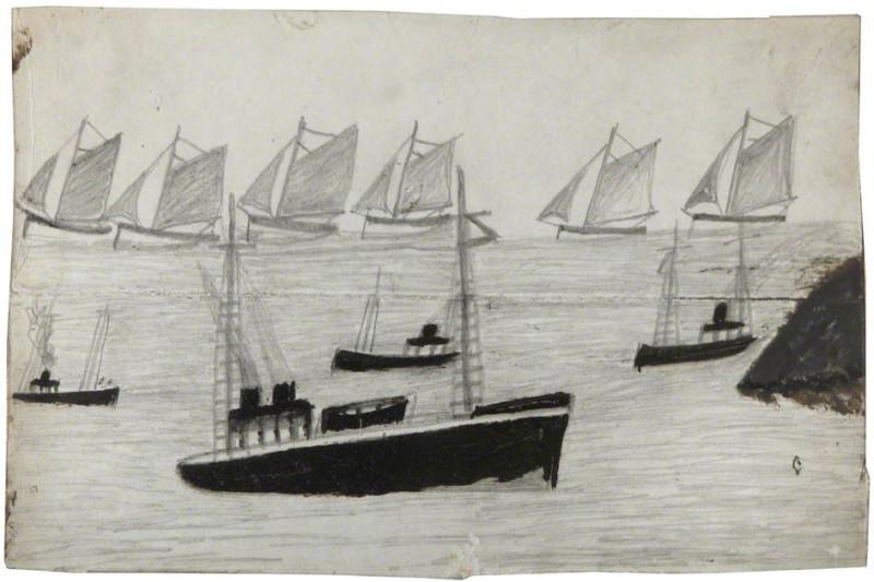 Флот на море