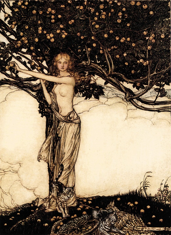 Богиня Фрейя и золотые яблоки