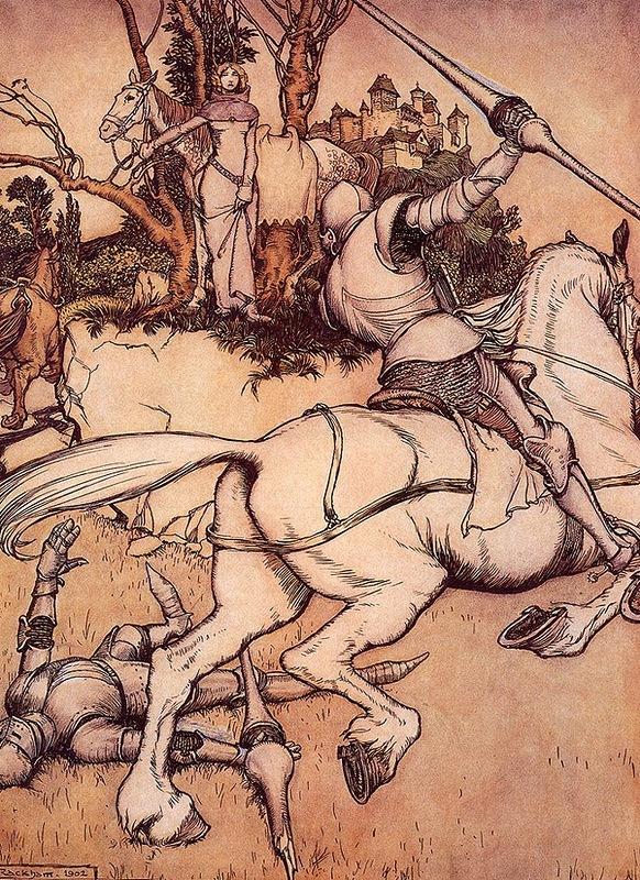 Гарет Беуманс побеждает зеленого рыцаря