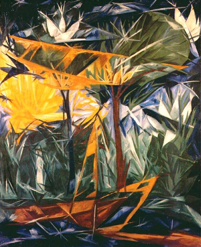 Желтый и зеленый лес