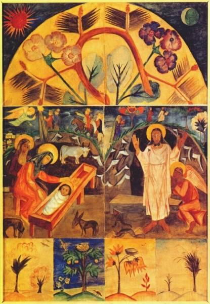 Мотивы иконописи