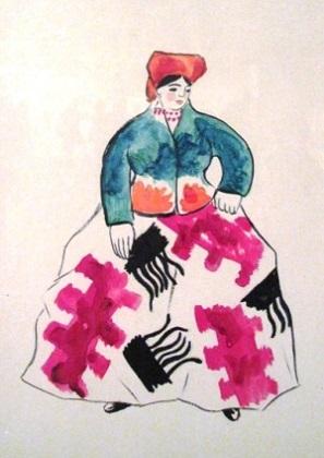 Эскизы для российского модного дома Надежды Ламановой