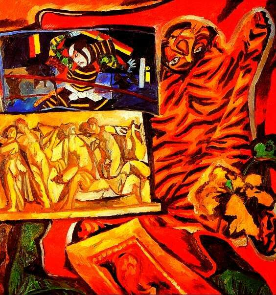 Натюрморт с тигром