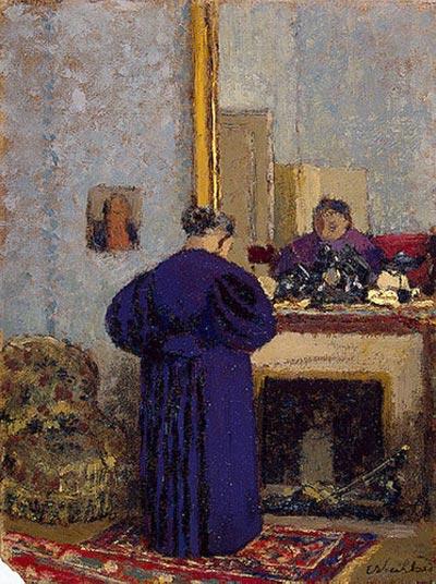 Мадам Вюйар у камина
