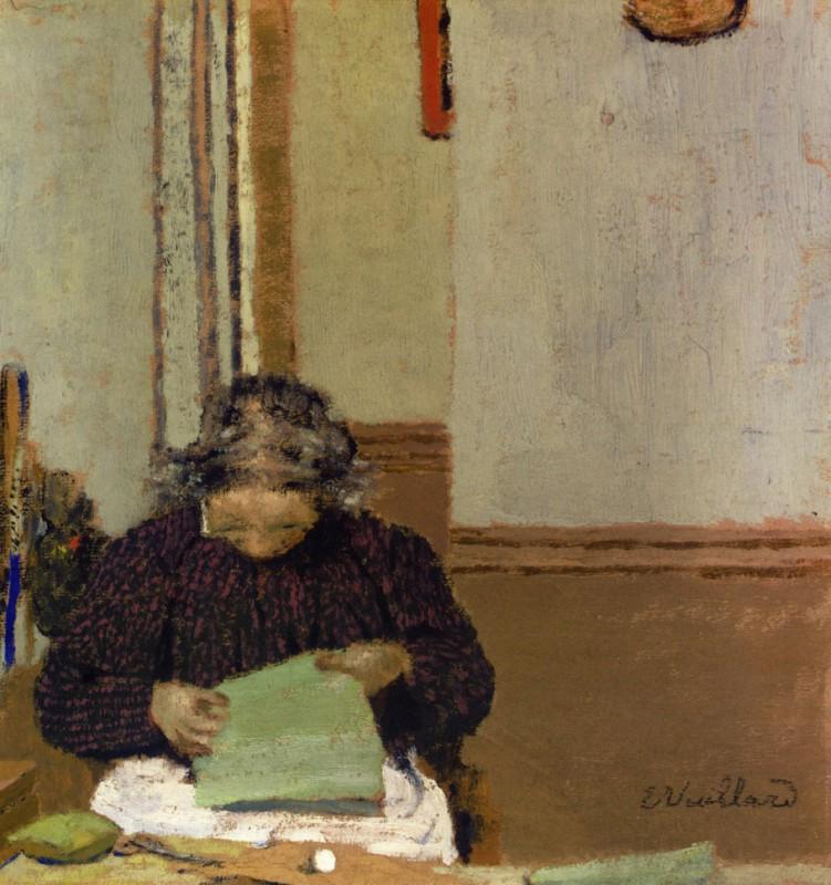 Мадам Вюйар за шитьём