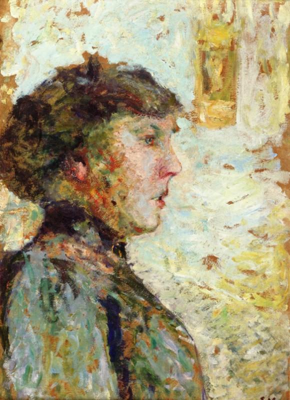 Портрет женщины в профиль