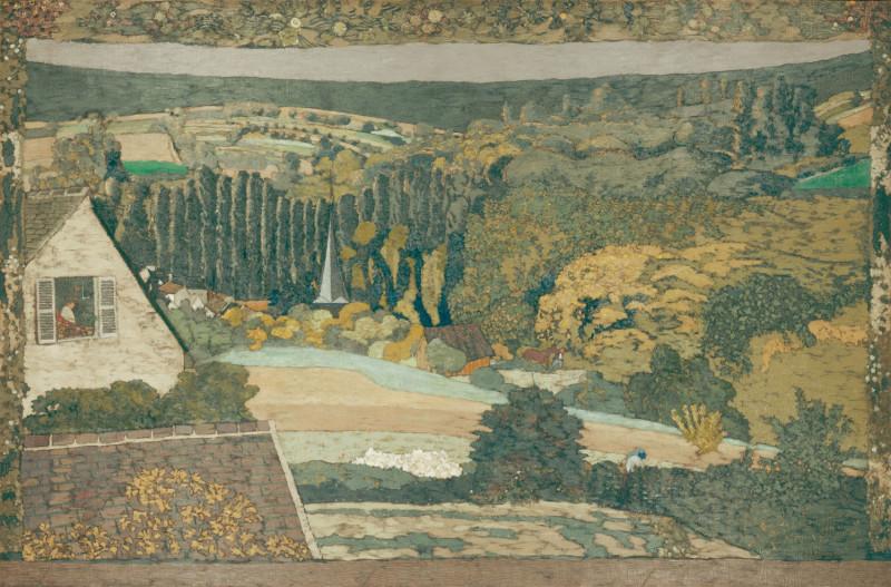 Вид на лес из окна