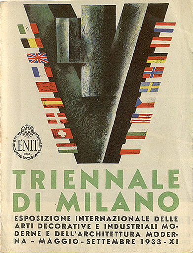 Обложка проспекта Миланского триеннале. 1933