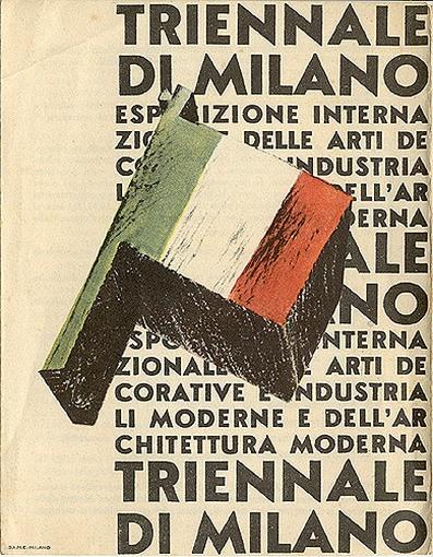 Обложка проспекта Миланского триеннале. 19332