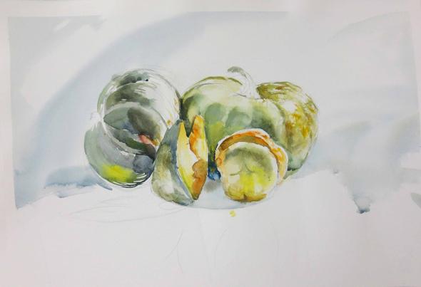 Рисование натюрморта акварелью. Обучение в Москве